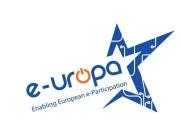 Logotip del projecte Enabling European e-Participation