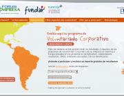 Captura de la plana web de l'eina d'avaluació del voluntariat corporatiu