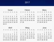 Calendari 2017. Font: elpais.cat