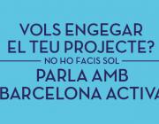 Imatge cartell Barcelona Activa. Font: web Barcelona Activa