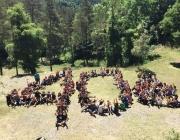 Els raiers i raieres de la TREC formen el número 40. Foto: Escoltes Catalans.
