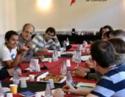 Esmorzar amb Rochi Saenz, una periodista de NC Noticias al Col·legi de Periodistes de Catalunya.