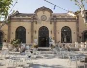 Imatge del pati i el Cafè L'Artesà del Prat de Llobregat, autor: Toni Galitò
