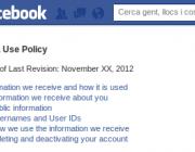 La pàgina de polítiques de privacitat de Facebook
