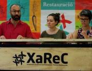 Membres de  la XAREC en la presentació del 'Manifest pel turisme i l'hostaleria responsables'