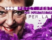 Part del cartell del III Petit Festival Audiovisual per la Dona
