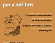 Formació de finançament públic per a entitats.    Font: CRAJ