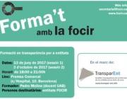 Formació en transparència per a entitats de la FOCIR