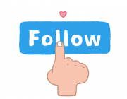 Imatge gràfica per fer-se nou seguidor.