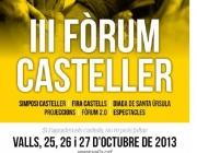 Cartell de l'edició 2013 del Fòrum Casteller