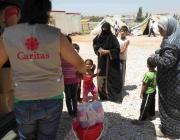 Treballador de Caritas Liban en un camp de refugiats sirians
