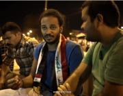 Fotograma del vídeo sobre les manifestacions a Baghdad