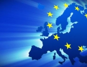 Mapa d'Europa amb el logo de la UE. Font: web framepool.com