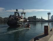 El Golf Azzurro salpant de Barcelona el 24 de desembre. Font: Oriol Canals