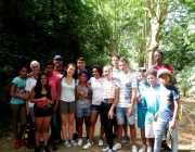 Participants al casal d'estiu de l'entitat