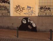 Grafit a la paret. Fotografia extreta del Catàleg d'entitats d'Artibarri