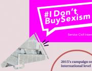 Imatge de la campanya I Don't Buy Sexism. Font: Twitter