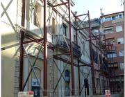 Façana de Lluïsos de Gràcia, actualment en obres