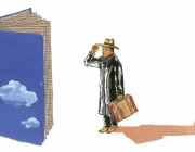 Il·lustració sobre el món de la literatura