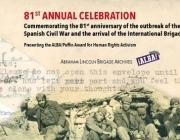 El premi es lliurarà el 27 d'abril a Nova York, als Estats Units. Font: Fundació Abraham Lincoln Brigade Archives