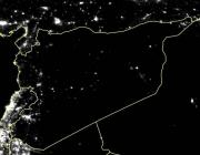 Imatge de satèl·lit que mostra que el 83% dels llums de Síria s'han apagat