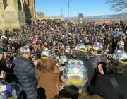 Imatge de la 3a edició del Posa't la Gorra a la Seu Vella de Lleida
