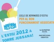 Cartell del cicle de xerrades d'estiu. Font: Web Torre Jussana