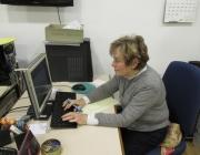 El voluntariat de María Mercedes Bielsa es basa en realitzar tasques administratives