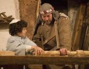 El fuster i el fill. Font: Amics de Corbera