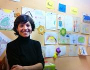Beatriz Fernández, directora de la Fundació Escó, a la seu de l'entitat. Font: