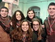 Els impulsors de la iniciativa, membres de l'Agrupament Escolta Sant Sadurní