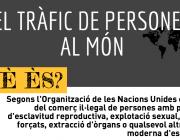 Imatge il·lustratiu part de la infografia sobre el tràfic de persones al món