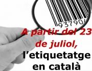 Imatge de campanya de l'etiquetatge en català