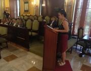 Defensa de la moció per part d'Oxfam Intermón durant el ple de La Paeria.