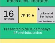 Amb l'acte 'Resistint davant dels atacs a les llibertats', Irídia celebra els 3 anys. Font: Irídia