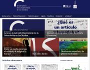 La portada del web de l'Observatori