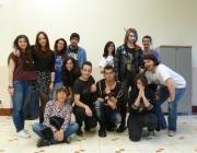 Els i les joves del grup de teatre Actuem dels dilluns al Palau Alòs