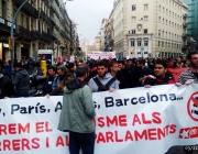 Manifestació en suport als moviments socials de Kíev, a Barcelona