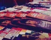 Estand amb llibres a la Fira del Llibre Feminista de Sabadell