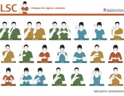 El Departament de Cultura presenta tres projectes amb el vocabulari bàsic de la Llengua de Signes Catalana