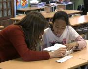 Voluntària i alumna del programa LECXIT a l'Escola Milà i Fontanals