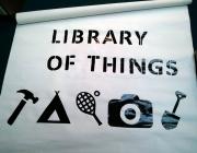 Pancarta d'questa original biblioteca