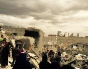 Atac de la coalició saudí a un barri de la capital del Iemen. Font. Amnistia Internacional