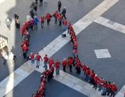 Campanya #LlaçosPerLaSida. Dia Mundial de la Sida, 2016 / Foto: C1D