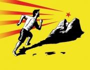 Logotip de Correm per la Terra, dissenyat per Lluís Masachs.