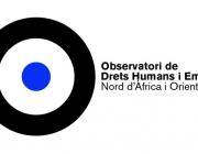 Logotip de l'Observatori de Drets Humans i Empreses d'Orient Mitjà i Nord d'Àfrica (ODHE). Font: ODHE