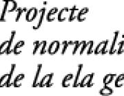Projecte de normalització tipogràfica de la ela geminada