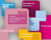 Logotip  Premis de Periodisme Jove sobre Violència de Gènere 2014