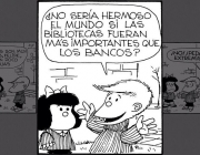 Tira còmica de Mafalda. Font: Instagram Mafalda Digital