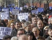 Manifestació a favor de la convivència a Salt, any 2011